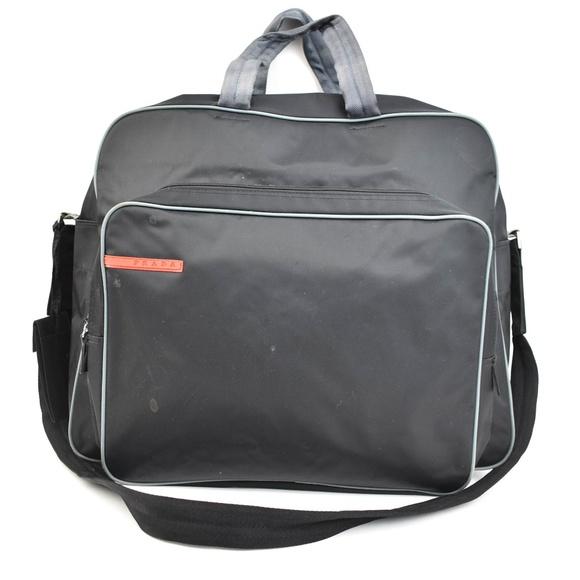 87acb86180ed Prada Bags | Black Vela Nylon Logo Large Travel Bag Nv | Poshmark